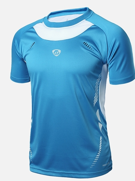 Men's Round Collar Outdoor Sportswear Short Sleeve T-shirt