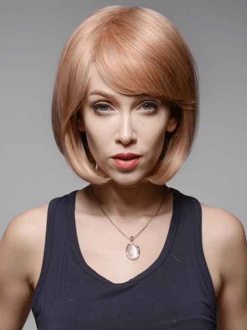 Charming BOB High Quality #30/613 Human Hair Wigs 12 Inches