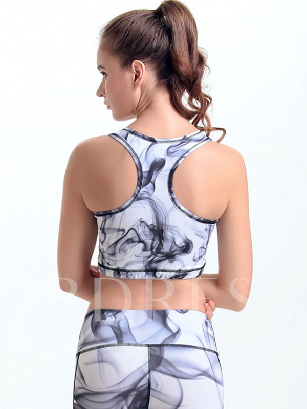 Ink Printed Y-Back Women Sports Bra