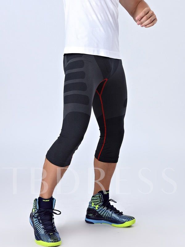 Nylon Fitness Fast Drying Breathable Men's Capri Pants