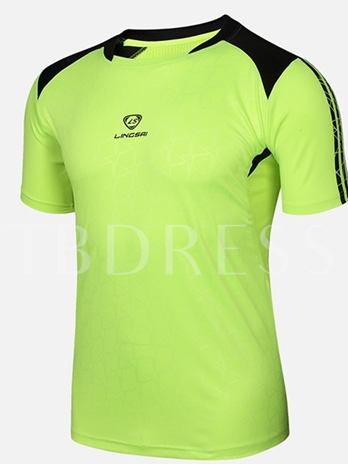 Men's Round Collar Leisure Outdoor Short Sleeve T-shirt