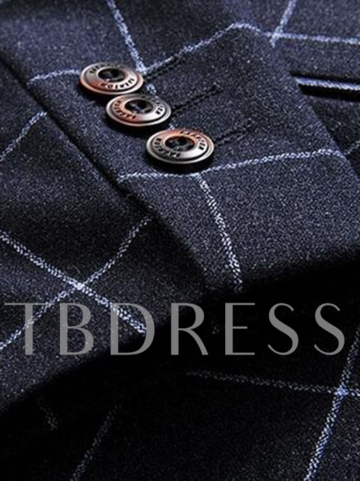 Men's Suits with Large Check Printed