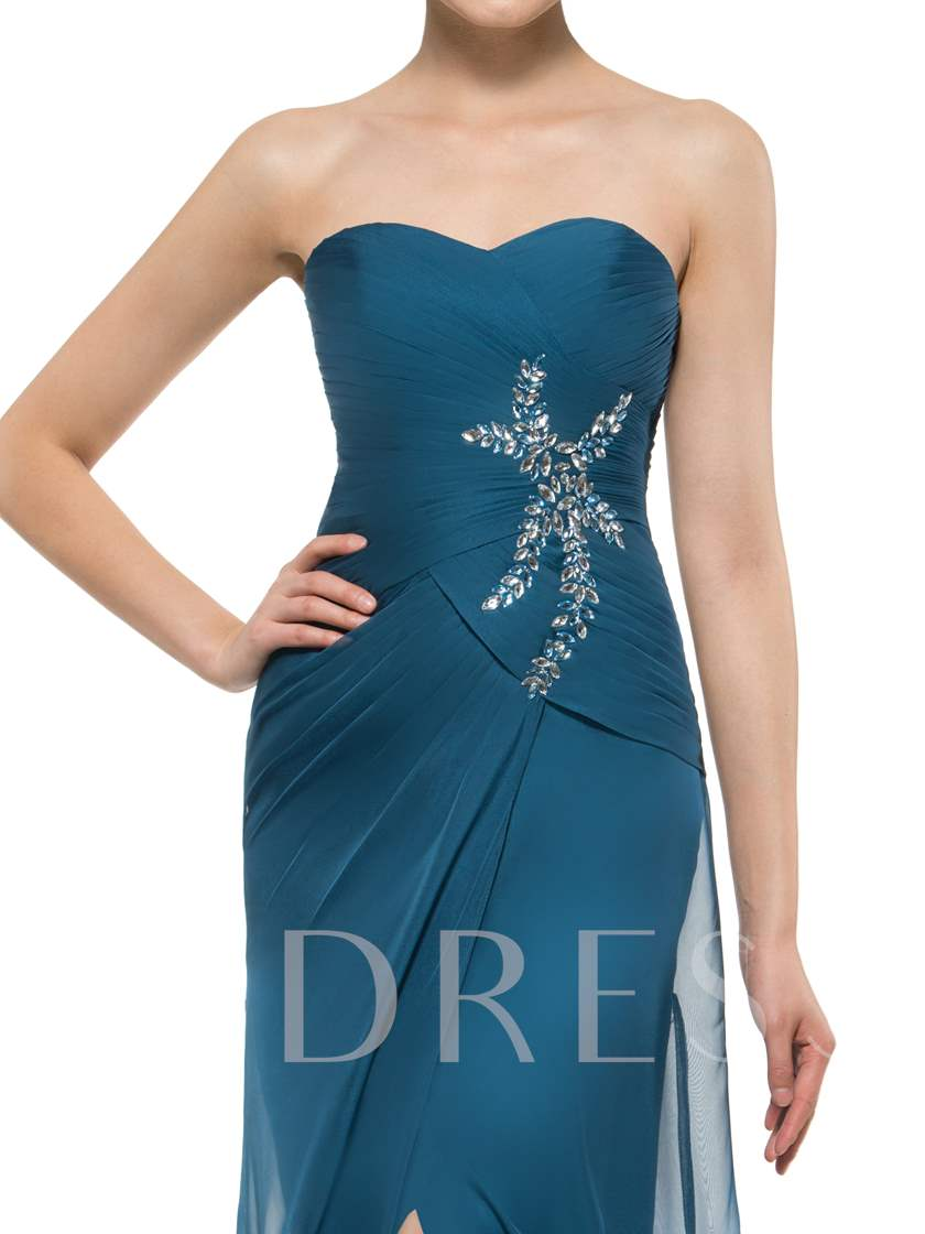 Sweetheart Beading Split-Front Mother Of The Bride Dress With Jacket