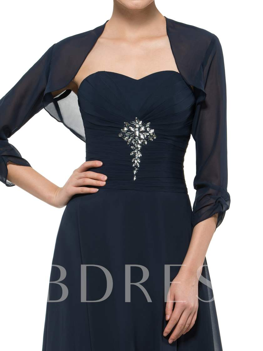 Strapless Beaded Mother Dress With Jacket