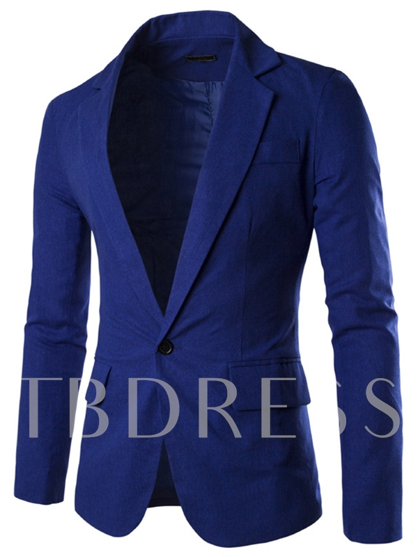 Men's Lightweight Blazer with Solid Color