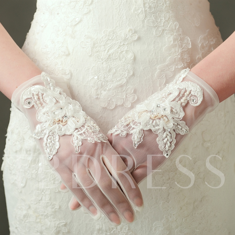Beautiful Short Bridal Gloves