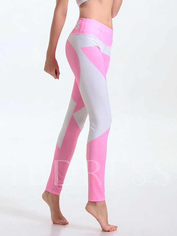 Spandex Pink Casual Fast Drying Women's Yoga Pants