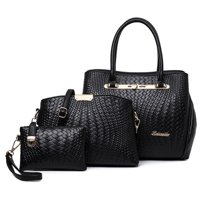Posh Snake Grain 3 Piece Bag Sets