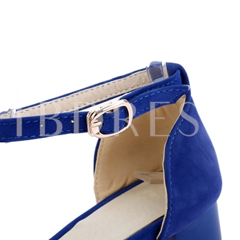Pointed Toe Patchwork Stripe Bowtie Chunky Heel Women's Sandals