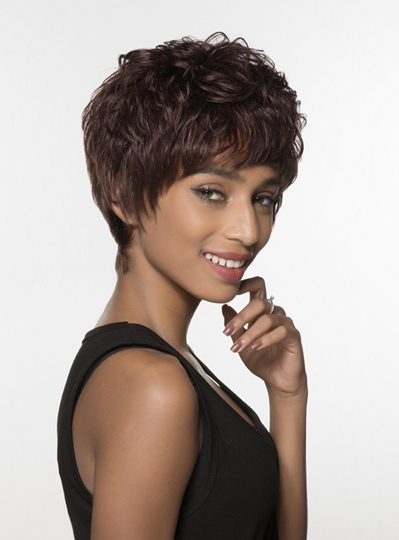 Attractive Layered Short Straight Capless Human Hair Wig 6 Inches