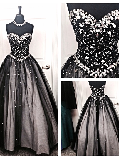 Rhinestone Sweetheart Beaded Quinceanera Dress