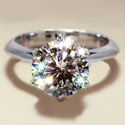 Shining Zircon E Plating Women Ring