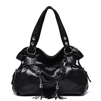 Elegant Tassels Soft PU Desirable for Women Tote Bag