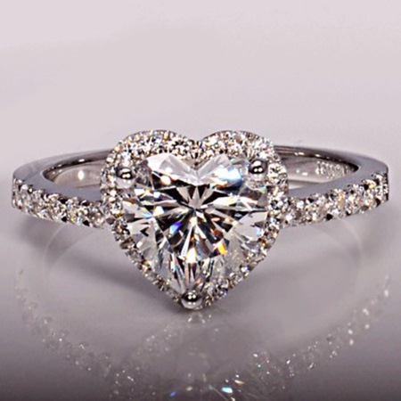 Sweet Heart Shaped Zircon Plated Ring