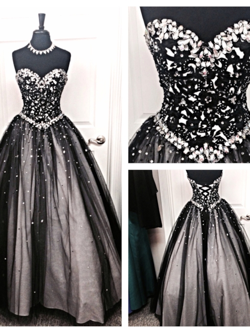 Sweetheart Rhinestone Beaded Ball Gown Quinceanera Dress