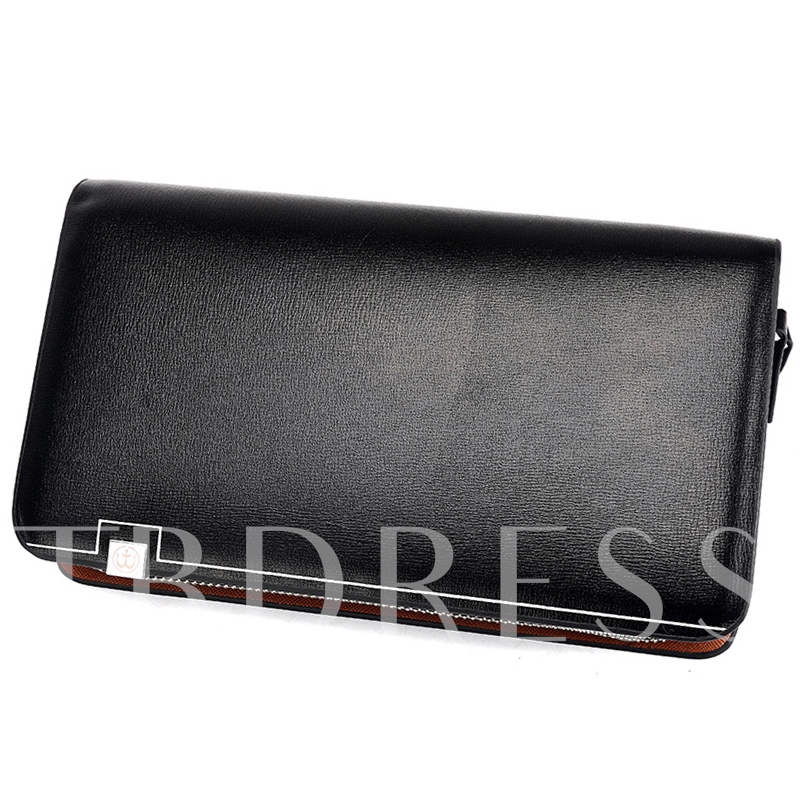 Posh Large Space Double Zippers Men's Wallet