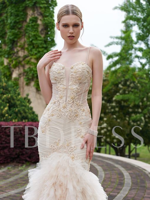 Sweetheart Beading Ruched Lace-Up Wedding Dress