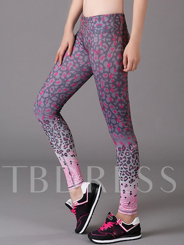 Spots Printed Breathable Anti-Sweat Women's Yoga Leggings