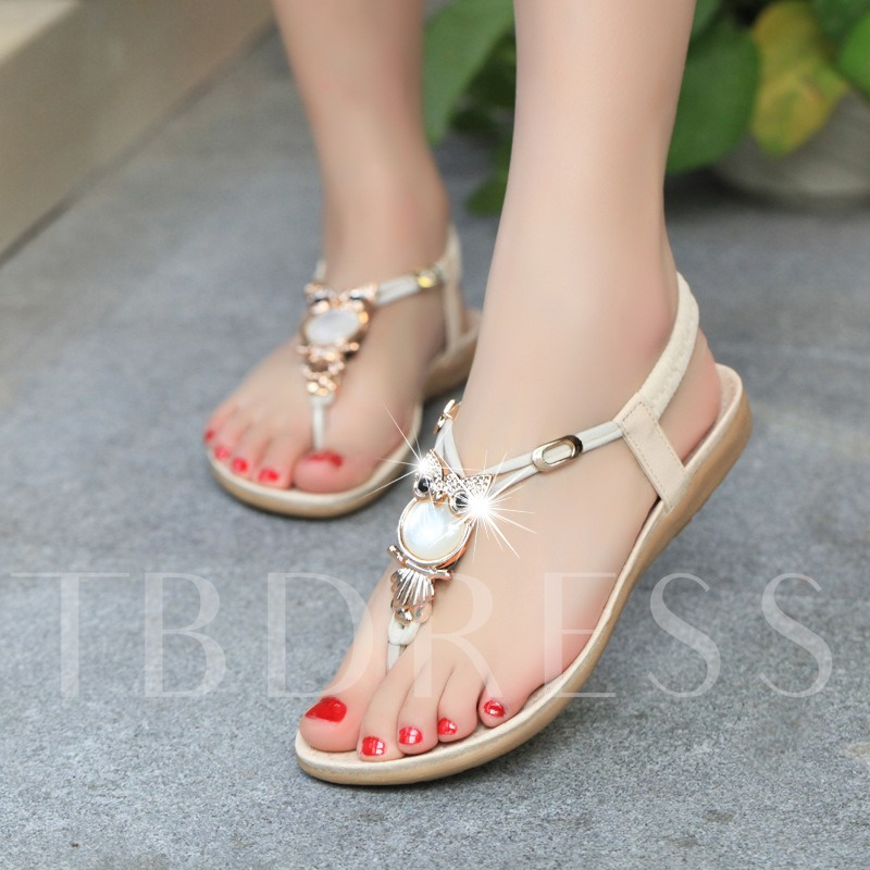 Sequins Elastic Band Plain Slingback Strap Women's Sandals
