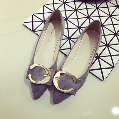 Pointed Toe Slip-On Plain Suede Sequins Women's Sandals