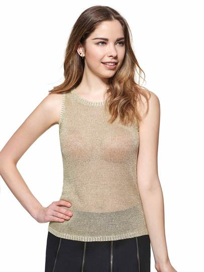 Solid Color Slim Sleeveless Sweater Women's Tank Top