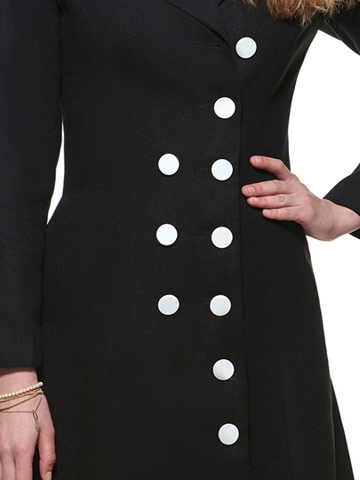 Button Slim Long Sleeve Women's Trench Coat