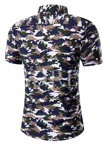 Men's Short Sleeve Outfits with Camouflage