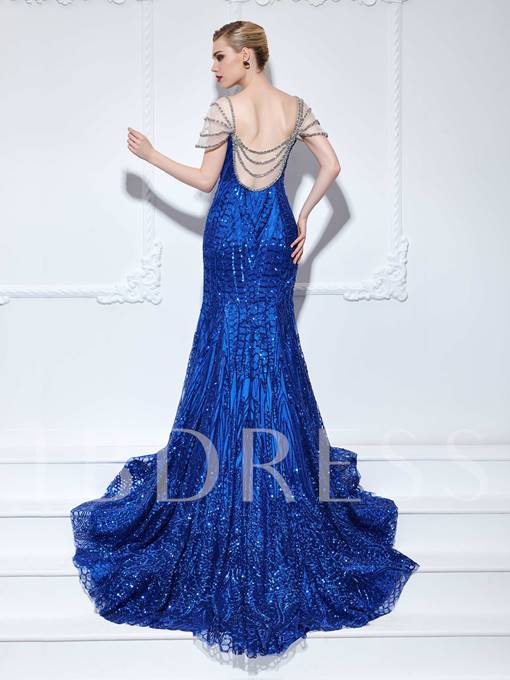 Mermaid Sweetheart Beading Sequins Evening Dress