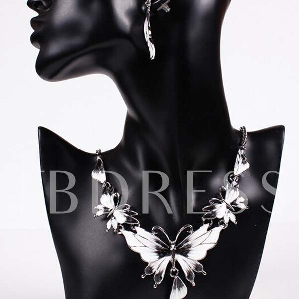 Colour Butterfly Two-Piece Jewelry Set