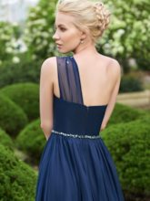 One Shoulder Beading Long Bridesmaid Dress