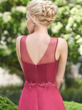 Straps Appliques Long Bridesmaid Dress