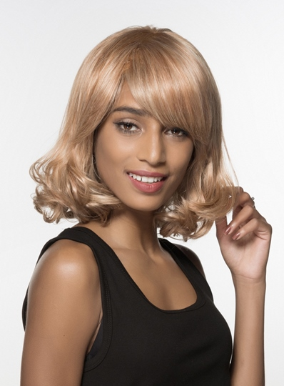 Medium Bottom Wave Capless Human Hair Wig 14 Inches