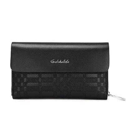 Fashion Quilted Lining Snap Cover Men's Clutch Bag