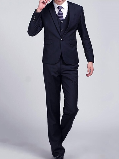 Men's Three Pieces Suits with Two Button