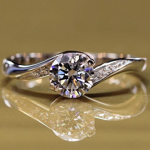 Round Gems Gold-Plated Ring
