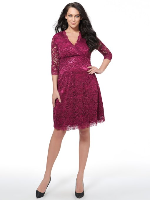9c7ce7d629 Cheap Lace Dresses, Vintage Long Sleeve Plus Size Lace Dresses for ...