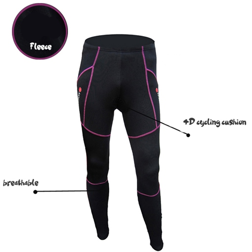 Stream Line Blocked Padded Bottom Cycling Pants