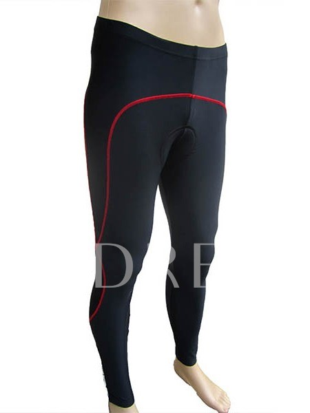 Red Lined Men's Cycling Tights