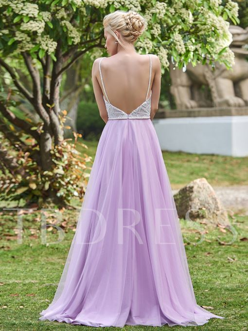 Pretty Spaghetti Straps Sweetheart Sequins A-Line Bridesmaid Dress