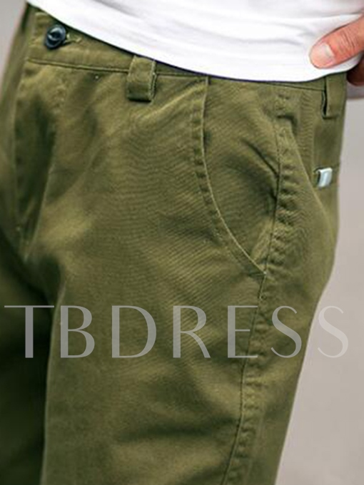 Men's Solid Color Trousers with Draped