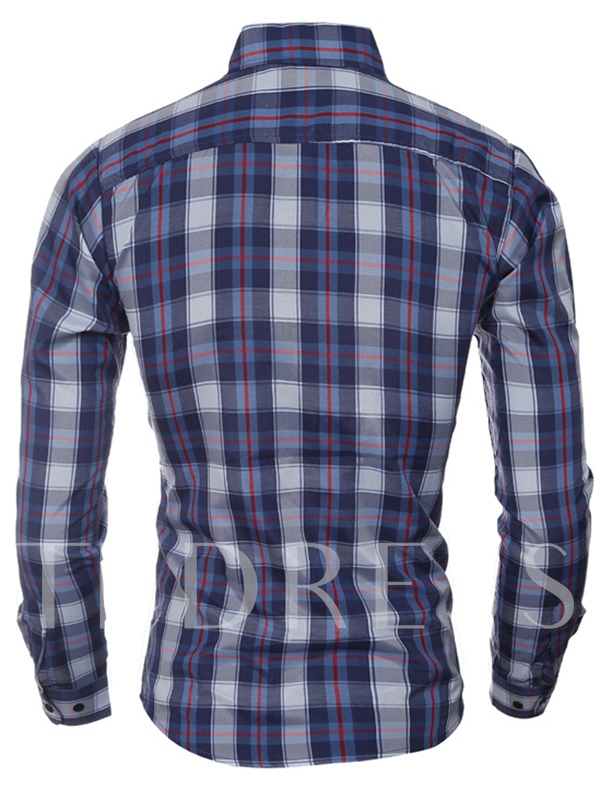 Men's Short Sleeve Shirt with Plaid