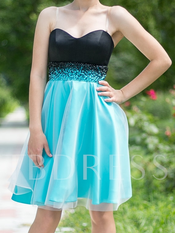 A-Line Beadings Sweetheart Short Homecoming Dress