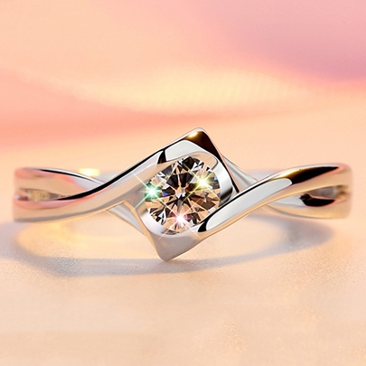 925 Silver Heart-Shaped Ring