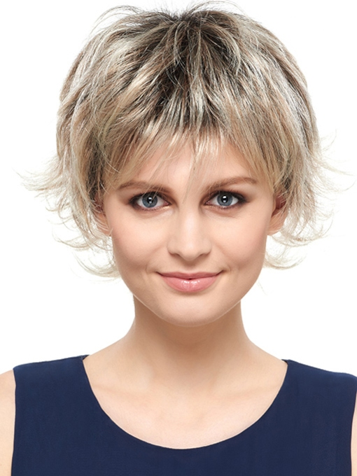 Glamorous Short Wavy Capless Synthetic Wig 8 Inches