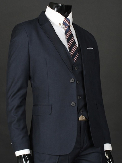 Men's Groom Suit with Front Double Buttons