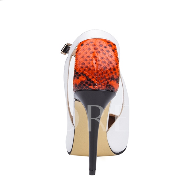 Pointed Toe Stiletto Heel Hollow Lace Women's Pumps