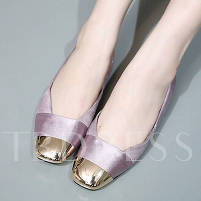 Square Toe Slip-On Patchwork Sequins Women's Flats