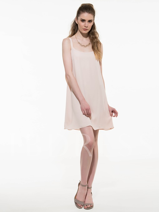 Strappy Bowknot Decorated Women's Day Dress