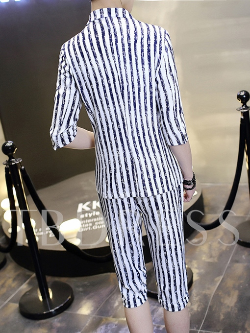 Men's Suits with Vertical Stripes