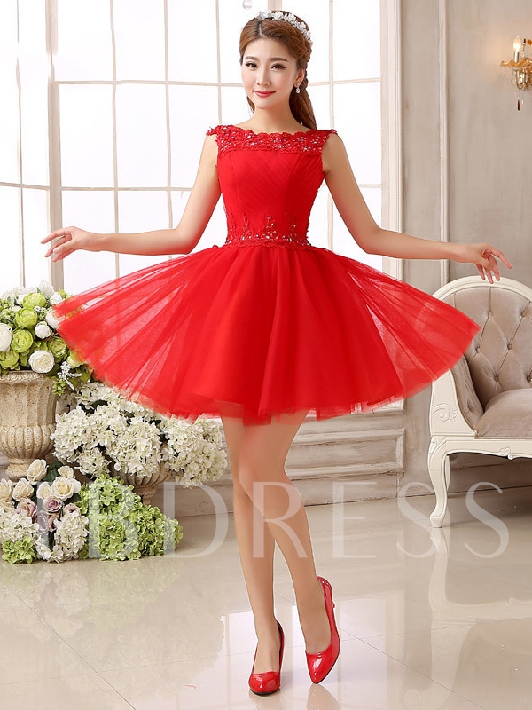 Beading Lace Pleats Short Homecoming Dress